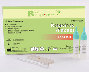 20 Rapid Rotavirus Test Kit Antigen Cassettes 20/Box