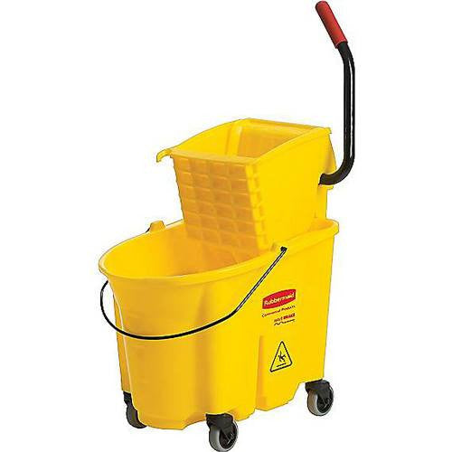 Buy Rubbermaid WaveBrake Mop Bucket with Side-Pressure Wringer, Yellow by Rubbermaid from a SDVOSB | Cleaning & Maintenance