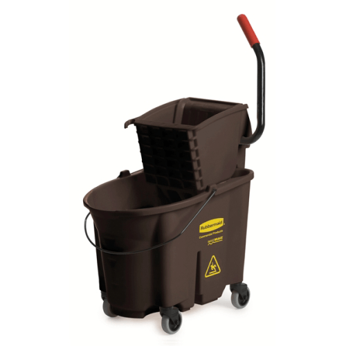 Buy Rubbermaid WaveBrake Mop Bucket with Side-Press Wringer, Brown online used to treat Cleaning & Maintenance - Medical Conditions