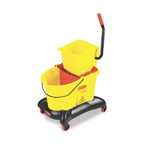 Rubbermaid Wavebrake Dual Water Side Press Mop Bucket & Wringer for Cleaning & Maintenance by Rubbermaid | Medical Supplies