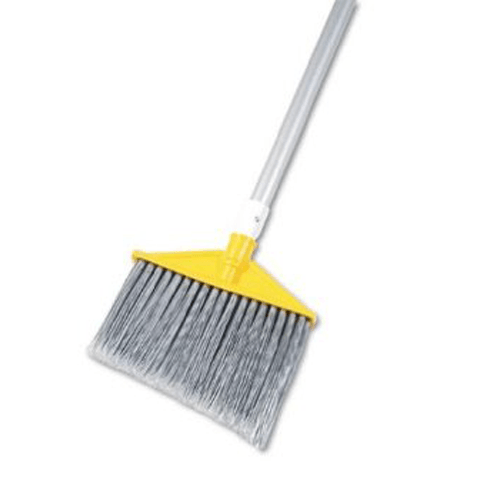 "Buy Rubbermaid 10.5"" Angled Aluminum Handle Broom with Fusion-Set Bristles online used to treat Cleaning & Maintenance - Medical Conditions"