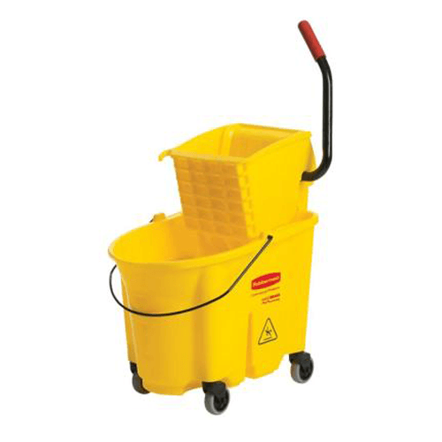 Buy Rubbermaid WaveBreak Mop Bucket with Side-Press Wringer Combo, 26 Quart by Rubbermaid | SDVOSB - Mountainside Medical Equipment