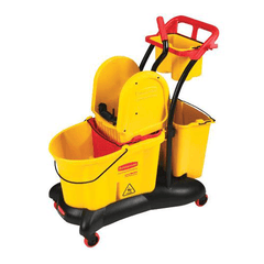 Buy Rubbermaid WaveBreak Mopping Trolley with Side-Press Wringer Mop Bucket online used to treat Cleaning & Maintenance - Medical Conditions