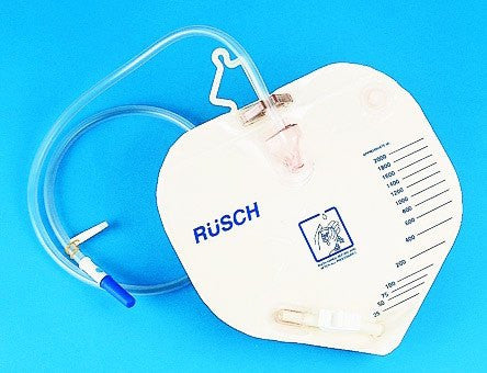 Rusch Urinary Drainage Bag with Anti-reflux Valve 2000mL - Urine Bags - Mountainside Medical Equipment