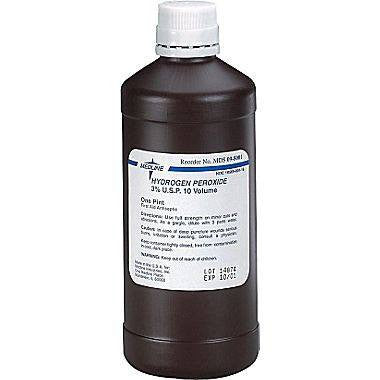 Buy Hydrogen Peroxide 3%, 16 oz Bottle by Mountainside Medical Equipment | SDVOSB - Mountainside Medical Equipment