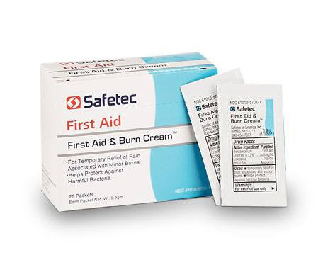 Buy First Aid and Burn Cream 25/box by Safetec | SDVOSB - Mountainside Medical Equipment