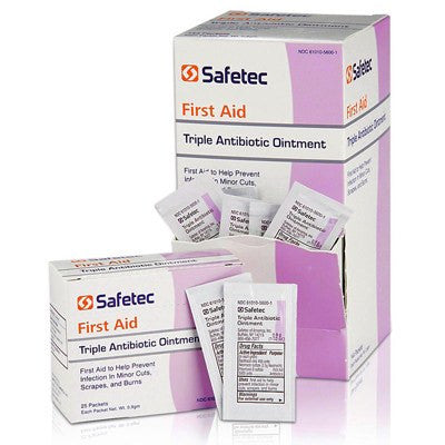 Buy Safetec Triple Antibiotic Ointment Packets 144/box online used to treat Creams and Ointments - Medical Conditions