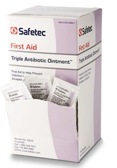 Safetec Triple Antibiotic Ointment Packets 144/box - Creams and Ointments - Mountainside Medical Equipment
