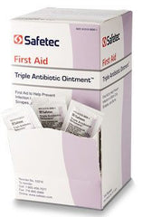 Buy Safetec Triple Antibiotic Ointment Packets 144/box by Safetec from a SDVOSB | Creams and Ointments
