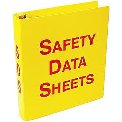 Buy Safety Data Sheets Binder, Yellow 3-Ring Binder online used to treat Training Products - Medical Conditions