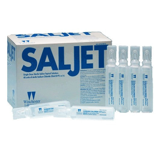 Buy Saljet Sterile Saline Topical Solution 30ml, 40/Box by Winchester Laboratories | IV & Irrigation