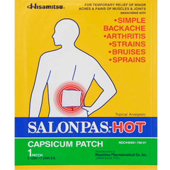 Buy Salonpas Pain Relieving Hot Patches by Salonpas | Home Medical Supplies Online