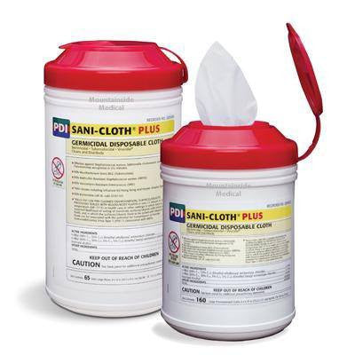 Sani-Cloth Plus Germicidal Disposable Wipes - Surface Disinfectant Cleaner - Mountainside Medical Equipment