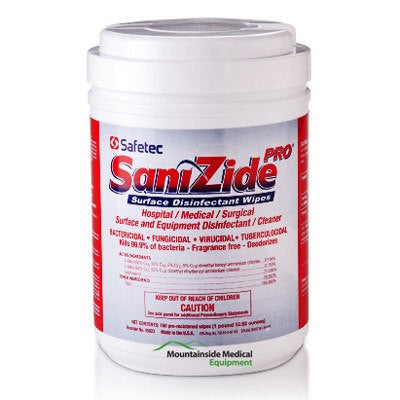 Sanizide Pro Surface Disinfectant Wipes 160ct - Disinfectant Wipe - Mountainside Medical Equipment
