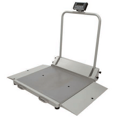 Digital Fold-Up Wheelchair Dual Ramp Scale for Scales by Health-O-Meter | Medical Supplies