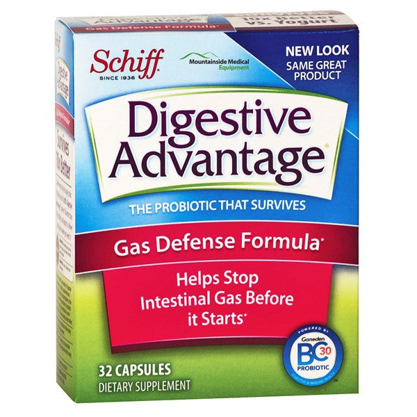 Schiff Digestive Advantage Gas Defense Capsules 32 Count for Digestive Care by Reckitt Benckiser | Medical Supplies