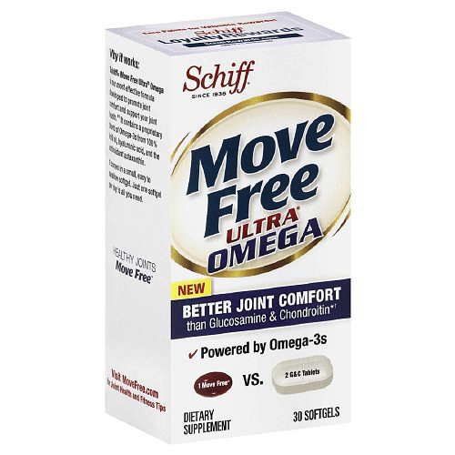 Move Free Ultra Omega Joint Supplement with Omega-3 Krill Oil, 30 Count