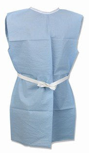 Patient Gown with Sewn Shoulders and Neckline