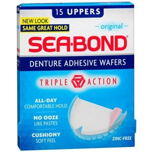 Buy Sea-Bond Upper Denture Adhesive Wafers by Combe | SDVOSB - Mountainside Medical Equipment