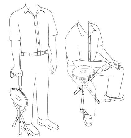 Tripod Cane Seat - Canes - Mountainside Medical Equipment