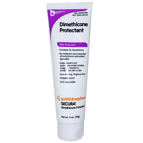 Secura Dimethicone Protectant Skin Cream 4 oz - Skin Protectant Barrier - Mountainside Medical Equipment