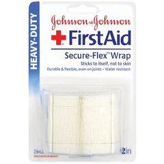 Secure Flex Wrap Bandages 2.5 Yards for Gauze Pads by Johnson & Johnson | Medical Supplies