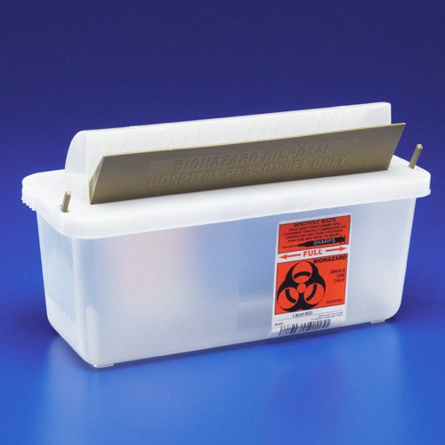 In Room Sharps Containers with Mailbox Style Lid 85021 - Sharps Containers - Mountainside Medical Equipment