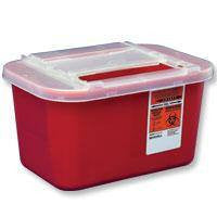 Buy Sharps Container with Sliding Lid, 1 Gallon by Kendall Healthcare from a SDVOSB | Sharps Containers