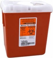 Sharps Container with Rotor Opening Lid 2 Gallon - Sharps Containers - Mountainside Medical Equipment