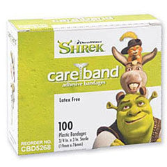 Shrek Plastic Bandages for Adhesive Bandages by Care Band | Medical Supplies