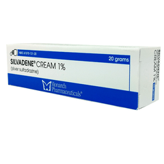 Buy Silvadene Cream 1% Silver Sulfadiazine 20 gram Tube by King Pharma | Home Medical Supplies Online