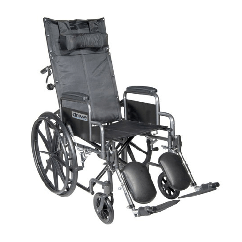 Silver Sport Full Reclining Wheelchair - Wheelchairs - Mountainside Medical Equipment