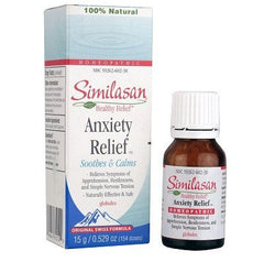Buy Similasan Natural Anxiety Relief Globules Liquid 15 gram by Similasan | Home Medical Supplies Online