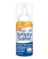 Simply Saline Allergy and Sinus Relief Nasal Mist Spray for Nose by Church & Dwight | Medical Supplies