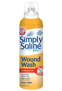 Buy Simply Saline Wound Wash Saline Spray, Sterile 7 oz by Church & Dwight from a SDVOSB | Wound Cleansers
