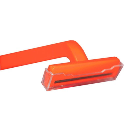 Single Blade Razors, Orange 100/Box