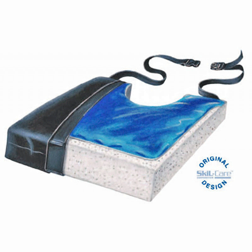 Buy Skil-Care Gel Foam Wheelchair Cushion with Coccyx Cutout online used to treat Gel Wheelchair Cushions - Medical Conditions