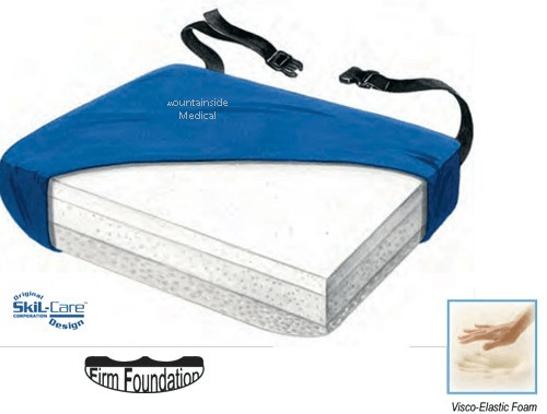 Buy Skil-Care Tri-Foam Visco Wheelchair Cushion online used to treat Foam Wheelchair Cushions - Medical Conditions