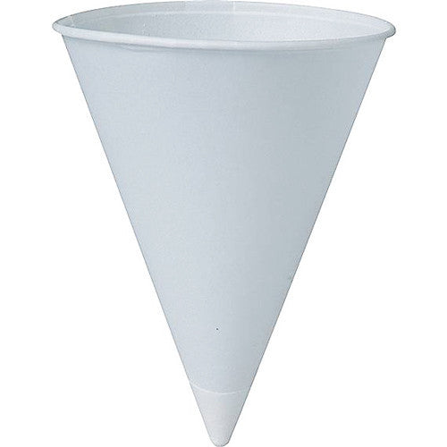 Solo Paper Cold Cone Cups 4 oz White, 5000/Case - Kitchen & Bathroom - Mountainside Medical Equipment