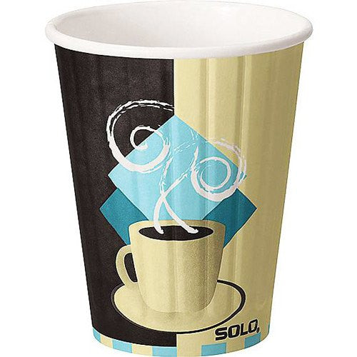 Solo Tuscan Cafe Design Duo-Shield Insulated Paper Hot Cups 600/Case - Kitchen & Bathroom - Mountainside Medical Equipment