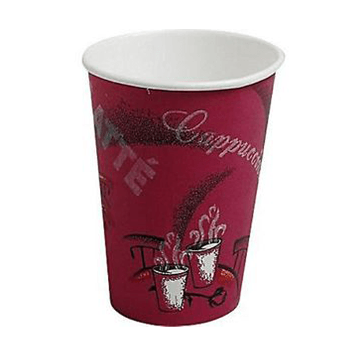 Solo Bistro Paper Hot Cups 16 oz Cafe Design 300/Case