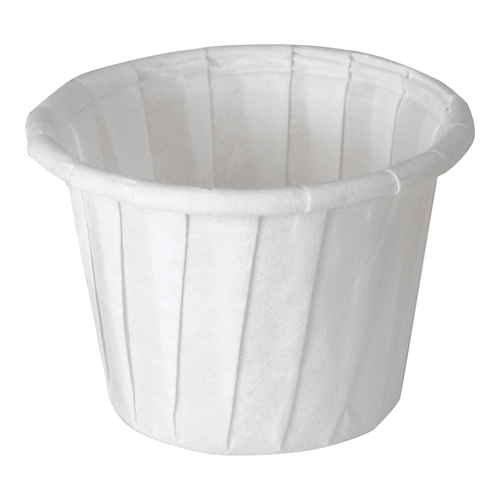 Solo Paper Portion Souffle Cups 0.75 oz, White 5000/Case - Kitchen & Bathroom - Mountainside Medical Equipment