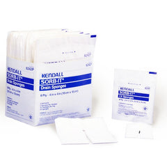 Sorb-It Drain and IV Sponges for Trach Care Products by Covidien /Kendall | Medical Supplies