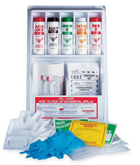 Buy Hazardous Spill Containment Kit, Wall Mounted by Safetec from a SDVOSB | Spill Cleanup Kit
