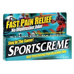 Sportscreme Muscle Pain Relief Rubbing Cream for Exercise and Fitness by Chattem | Medical Supplies