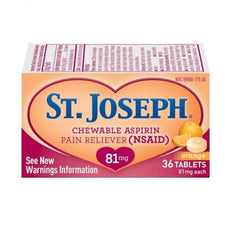 Buy St Joseph Chewable Low Dose Aspirin 36 Tablets by Insight Pharmaceuticals LLC from a SDVOSB | Over the Counter Drugs