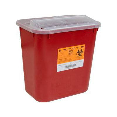 Stackable Sharps Container with Locking Lid 2 Gallon - Sharps Containers - Mountainside Medical Equipment