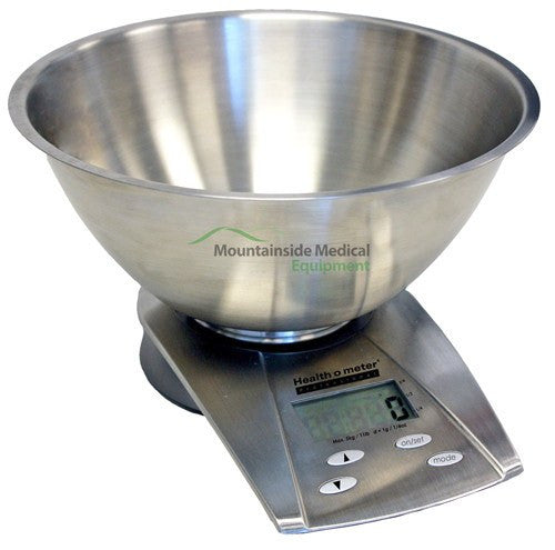 Stainless Steel Digital Bowl Scale for Scales by Health-O-Meter | Medical Supplies
