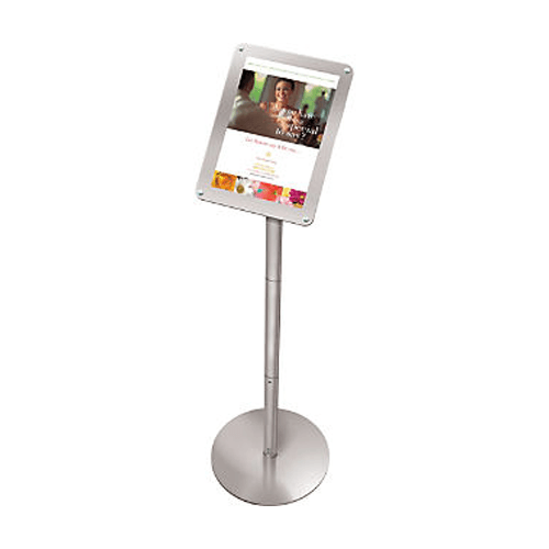 "Floor Stand Sign Holder Displays 8 1/2"" x 11"" Signs, 45"" Tall - Floor Stand - Mountainside Medical Equipment"