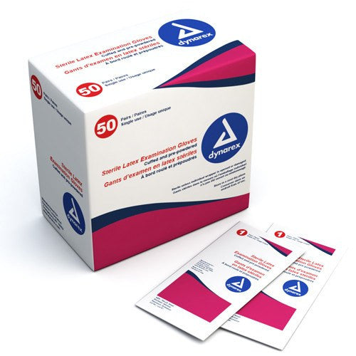 Buy Sterile Latex Exam Gloves, Small  (50 pairs per box) online used to treat Disposable Gloves - Medical Conditions
